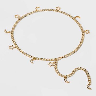 Women's Celestial Chain Belt - Wild Fable™ Gold