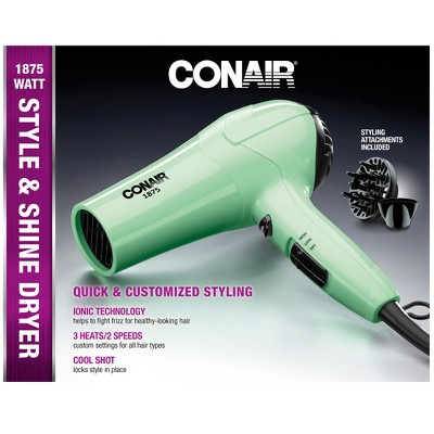 Conair IonShine Ceramic Dryer Mint Green