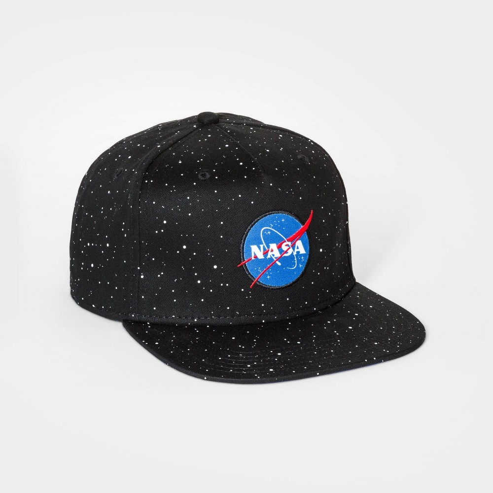 Boys 39 Nasa Flat Brim Baseball Hat Black