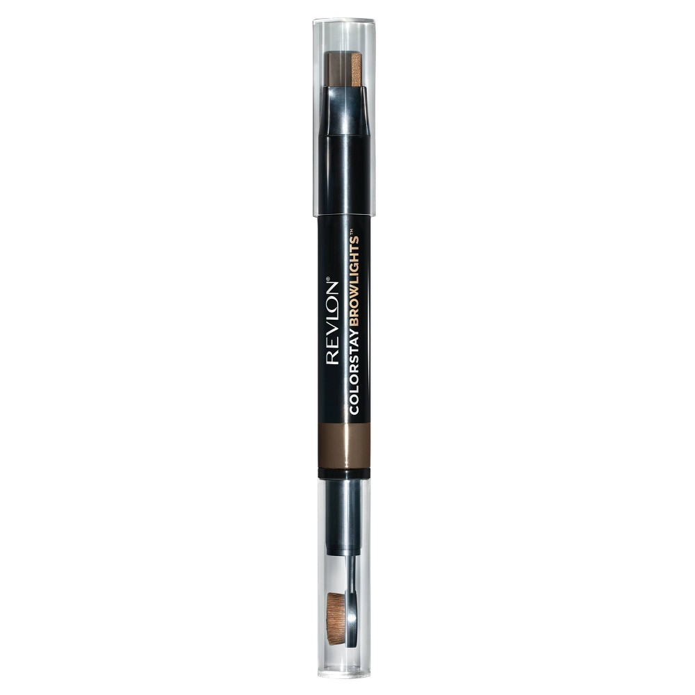 Revlon Colorstay Browlights Eyebrow Pencil And Brow Highlighter 403 Dark Brown 038oz