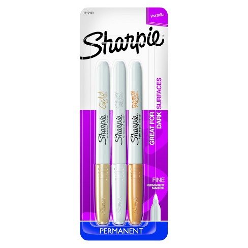 Sharpie® Permanent Markers, Fine Tip, 3ct - Multicolor Ink - image 1 of 9