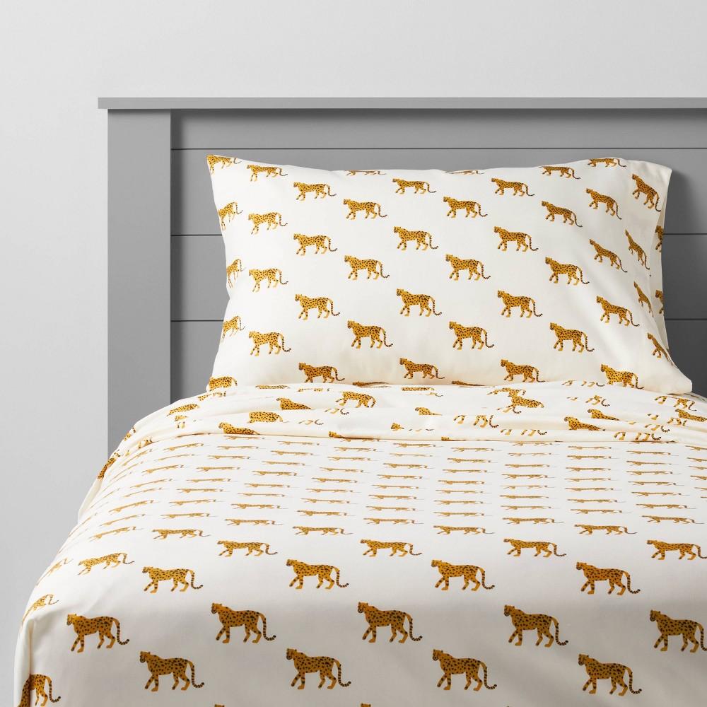 Queen Cheetah Microfiber Sheet Set Pillowfort 8482