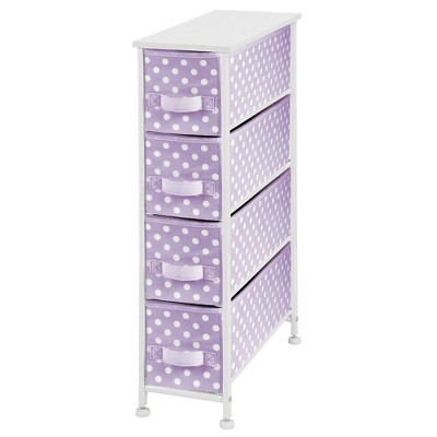 mDesign Narrow Dresser Storage Organizer Tower, 4 Drawers