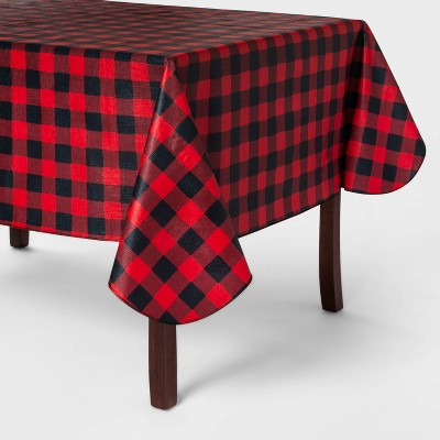 84 X60  Buffalo Check PEVA Tablecover Red - Wondershop™