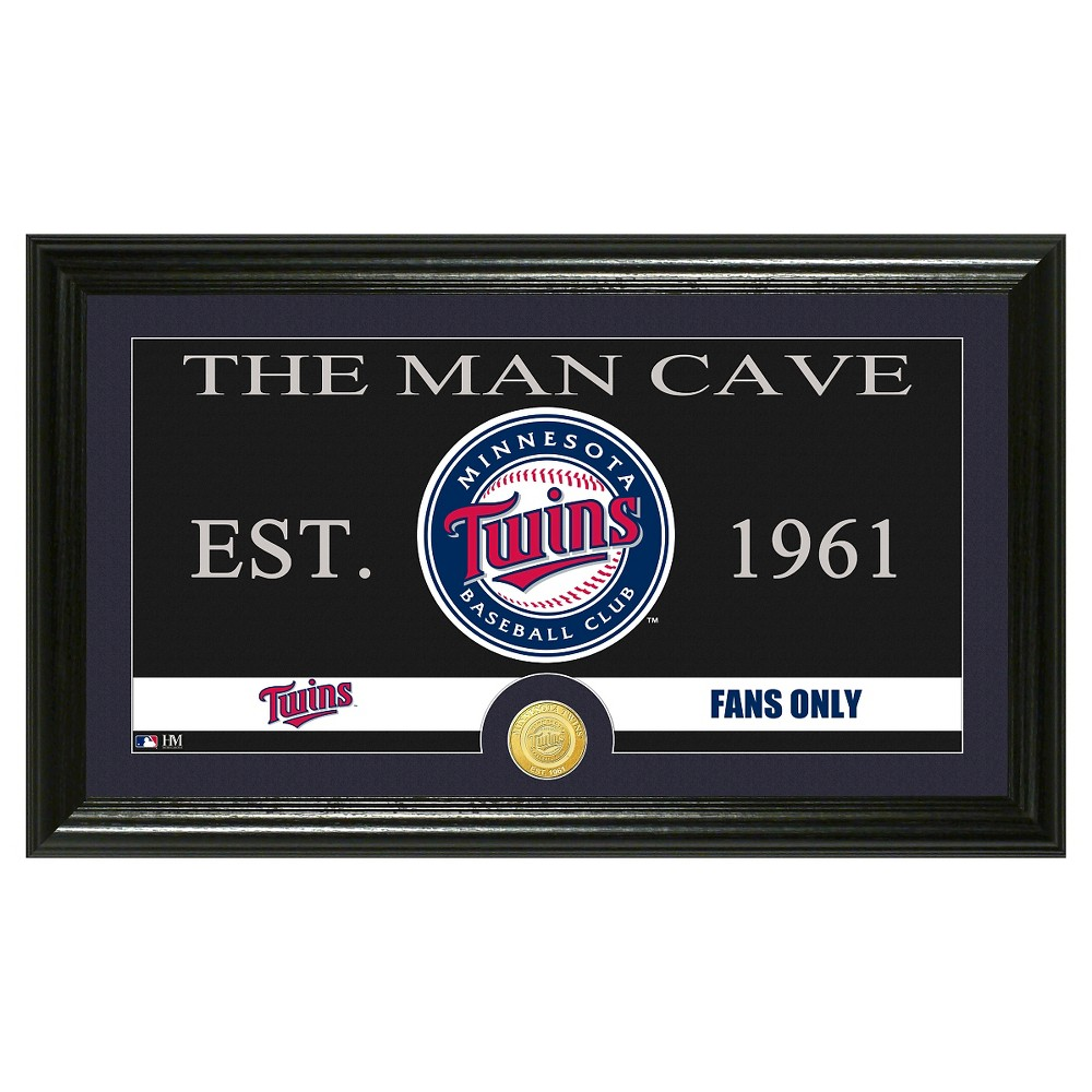 The Highland Mint MLB Man Cave Framed Wall Poster Print Minnesota Twins