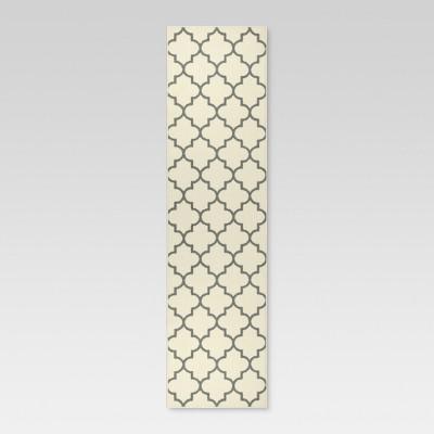 1'10 x7' Quatrefoil Design Runner Cream - Threshold™