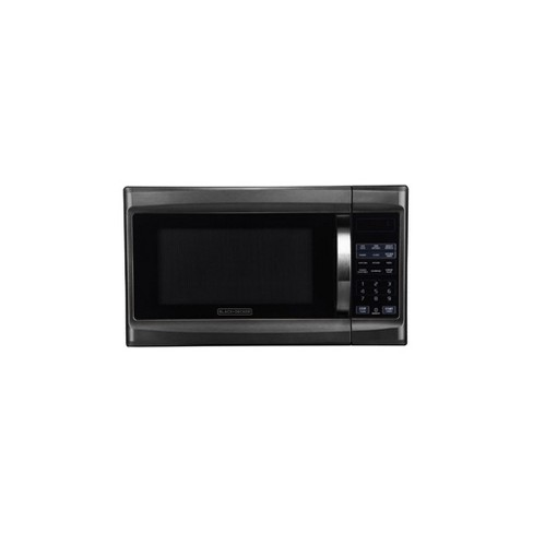 Black+Decker 1100 Watt 1.3 Cubic Feet Microwave with Digital Touch Controls and Display, Black Stainless Steel - image 1 of 3