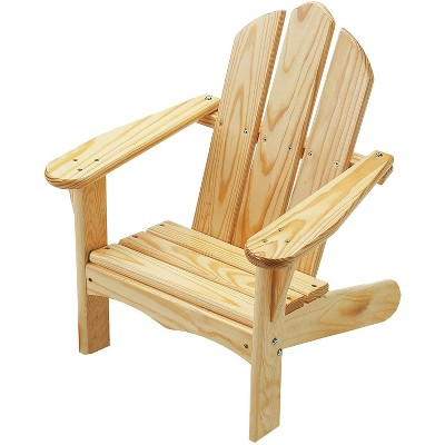 Little Colorado 140UNF Durable Handcrafted Knotty Pine Kids Classic Adirondack Outdoor Porch Patio Chair for Children Ages 2 to 7 Years, Unfinished