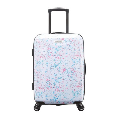 "American Tourister 22"" Arabella Hardside Carry On Spinner Suitcase - Speckle White"