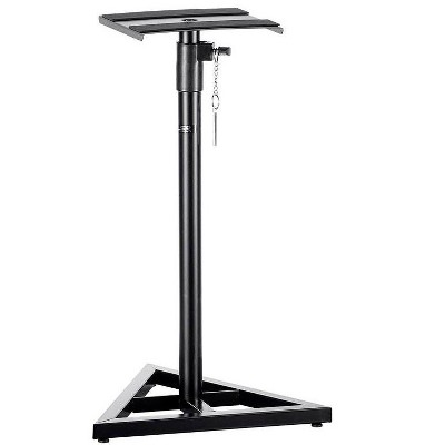 Monoprice Studio Monitor Speaker Stands (Pair) 130 lbs. Weight Capacity, Adjustable Height From 27in-45in - Stage Right Series