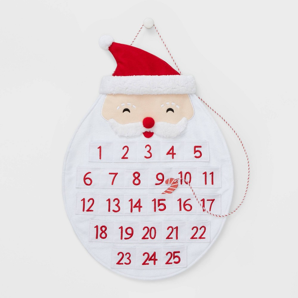 Image of Fabric Santa Advent Calendar - Wondershop , White
