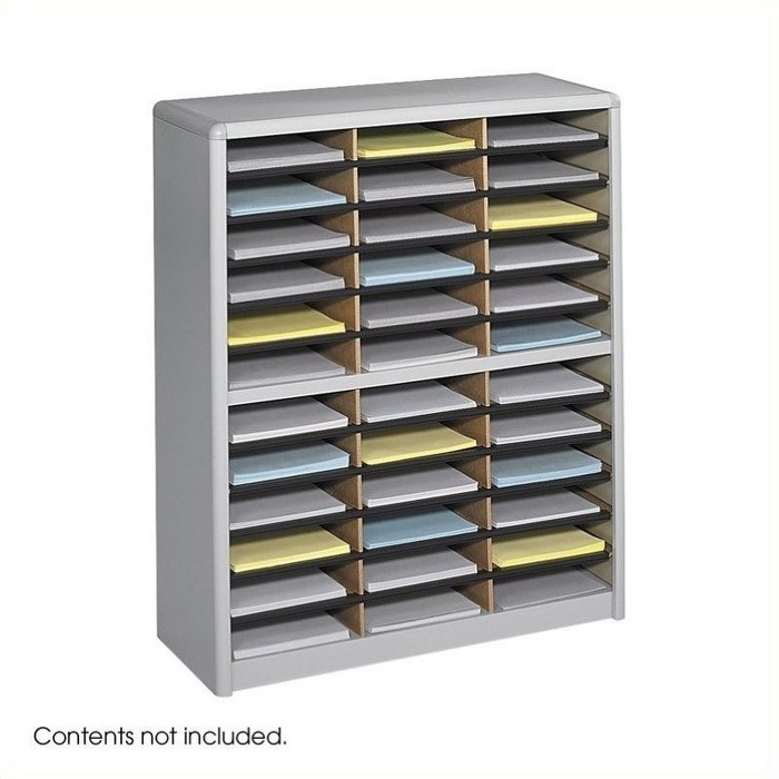 Steel 36 Compartment Value Sorter Metal Flat Files Organizer in Gray-Safco - image 1 of 3