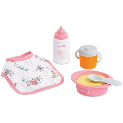 Corolle Baby Doll Pretend Play Mealtime Set