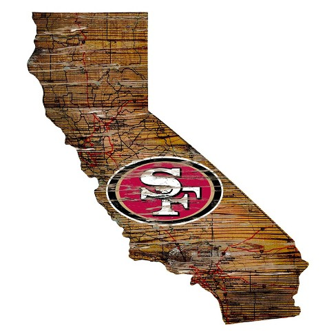 """NFL San Francisco 49ers 12"""" State Map Wood Sign - image 1 of 1"""