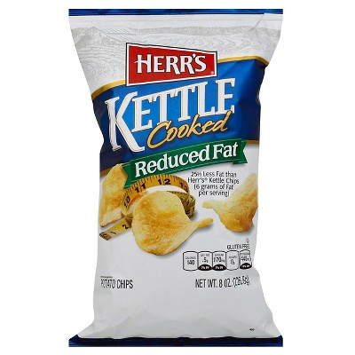 Herr's Reduced Fat Kettle Cooked Potato Chips - 8oz