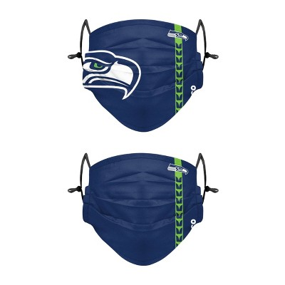 NFL Seattle Seahawks Adult Gameday Adjustable Face Covering - 2pk