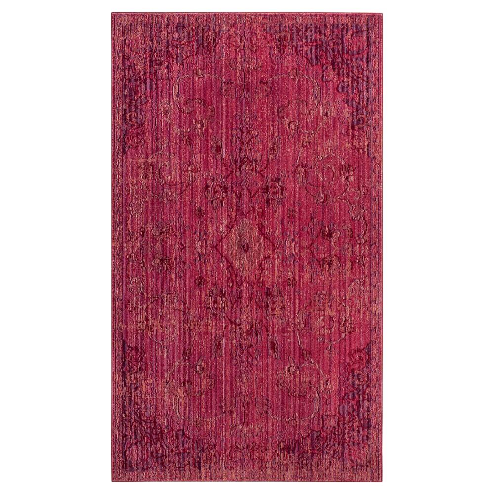 Valencia Rug - Red/Red - (4'x6') - Safavieh