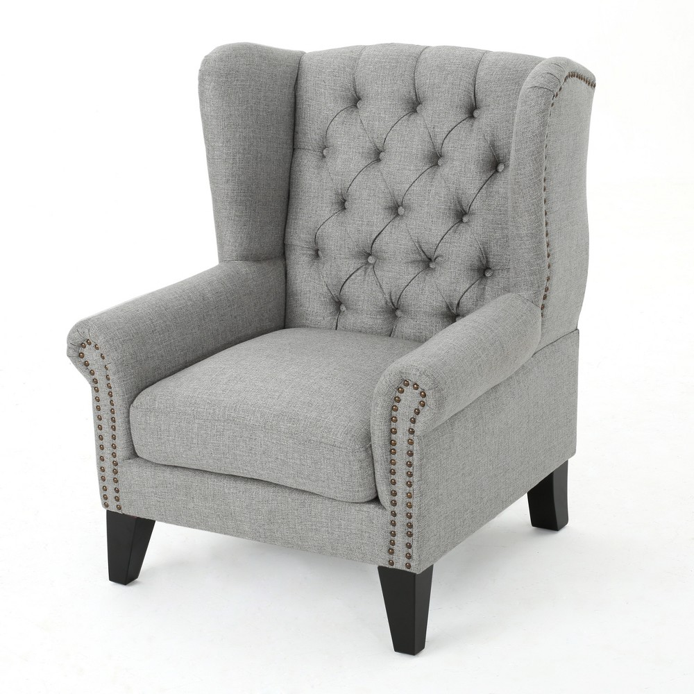 Laird Traditional Winged Accent Chair Gray - Christopher Knight Home
