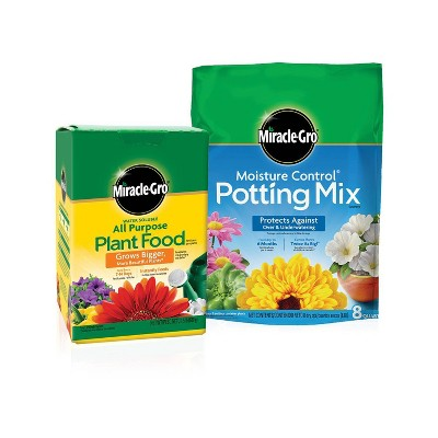 Miracle-Gro Water Soluble Plant Food and Potting Mix