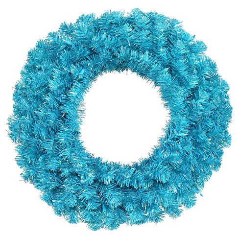 "36"" Pre-Lit Christmas Blue Wreath - image 1 of 1"