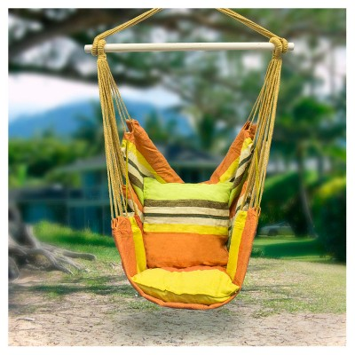 Sorbus Hanging Rope Hammock Chair Swing Seat For Any Indoor Or Outdoor  Spaces : Target