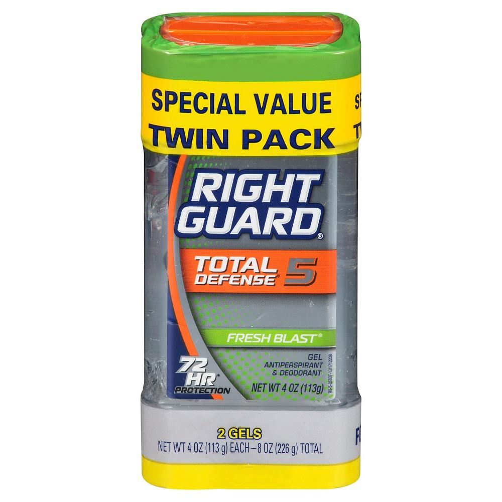 Right Guard Total Defense Fresh Blast Clear Gel - 2pk, Gray