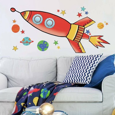Rocket Peel and Stick Giant Wall Decal - RoomMates