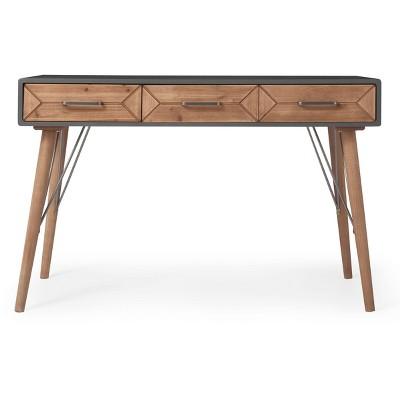 Friedman Desk Console Table Gray - Finch