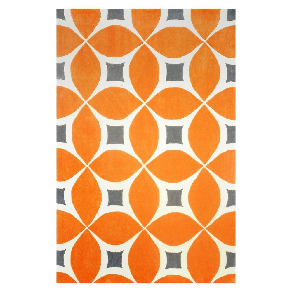 nuLOOM Hand Tufted Gabriela Area Rug - Deep Orange (4' x 6')