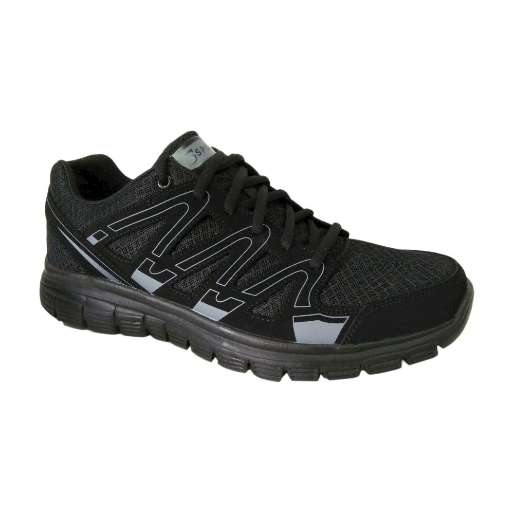Men's S Sport By Skechers Striker Performance Athletic Shoes - Black 12, Men's