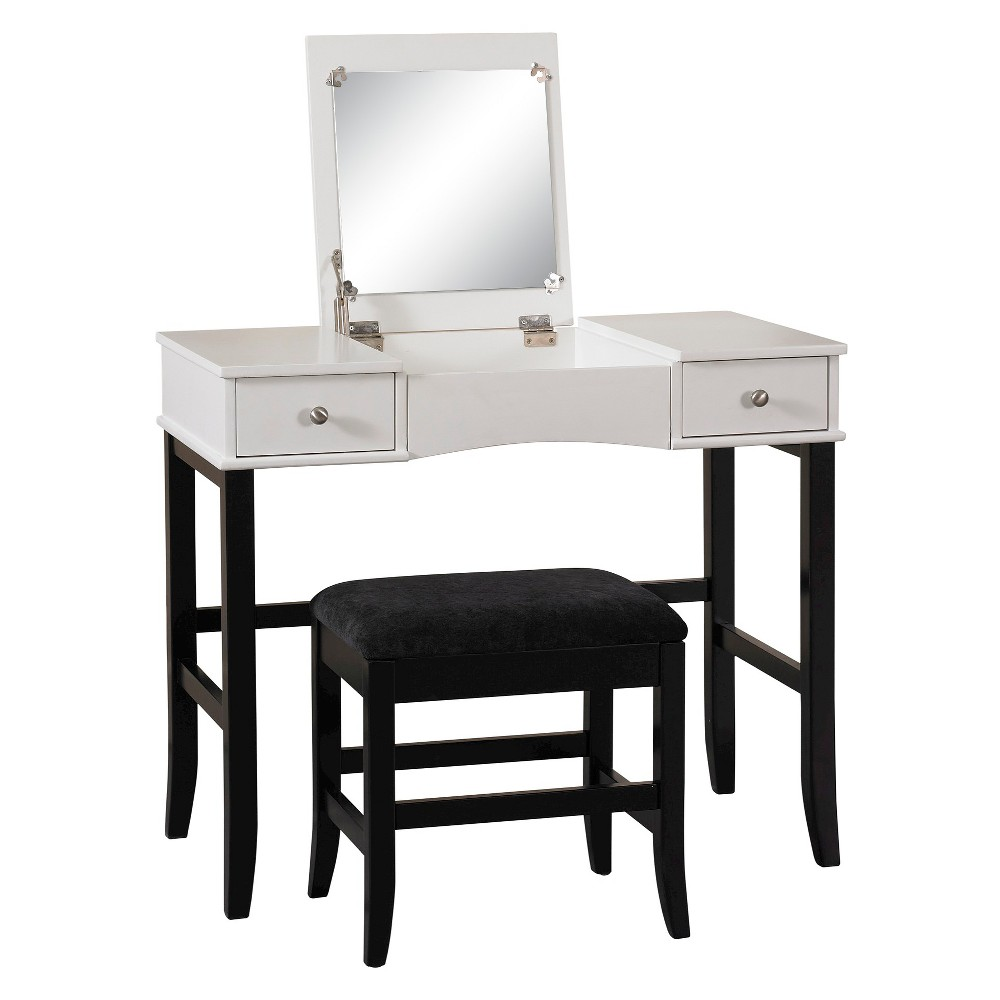 Vanity Black/White - Linon Home Decor, Multi-Coloured