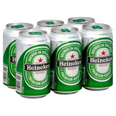 Heineken Imported Premium Lager Beer - 6pk/12 fl oz Cans