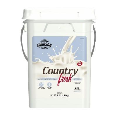 Augason Farms Country Fresh 100% Real Nonfat Milk Certified Gluten Free Emergency Bulk Food Storage 4-Gallon Pail 216 Servings