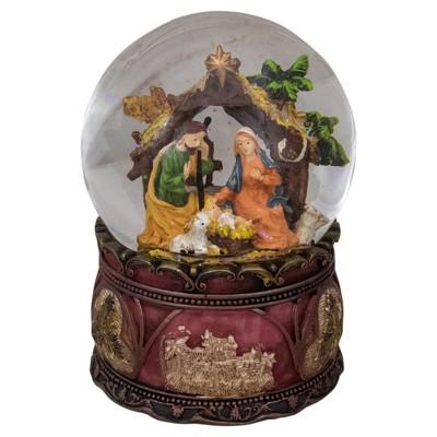 "Northlight 5.75"" Holy Family Nativity Scene Christmas Snow Globe"