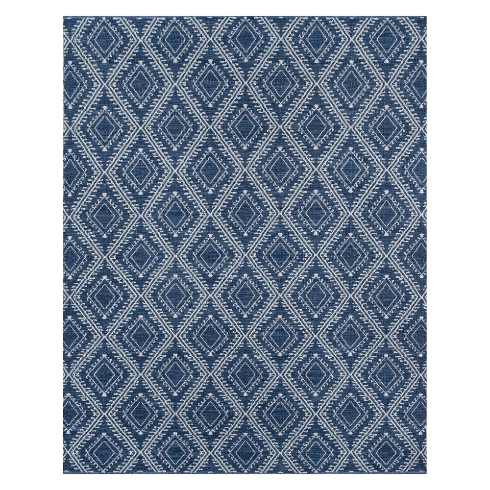 5'X7'6 Geometric Area Rug Navy (Blue) - Erin Gates By Momeni