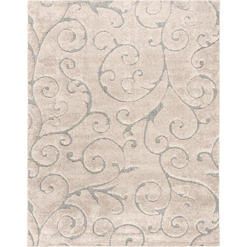 8'6X12' Swirl Loomed Area Rug Cream (Ivory) - Safavieh