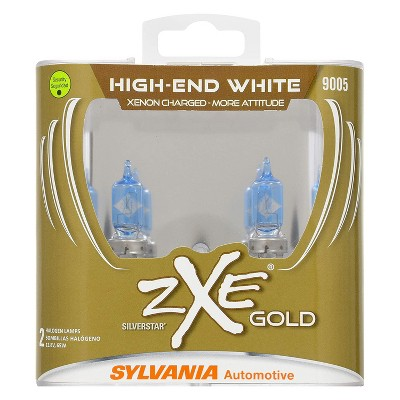Sylvania 9005SZG.PB2 High Performance SilverStar zXe GOLD 9005 Halogen Fog Light Bulb HID Attitude and Xenon Fueled, White (2 Pack)