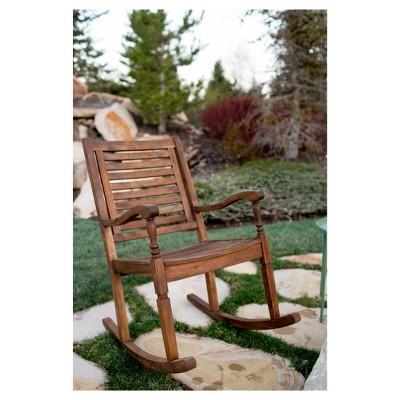 Acacia Rocking Chair (Oil Finish)   Dark Brown   Saracina Home : Target