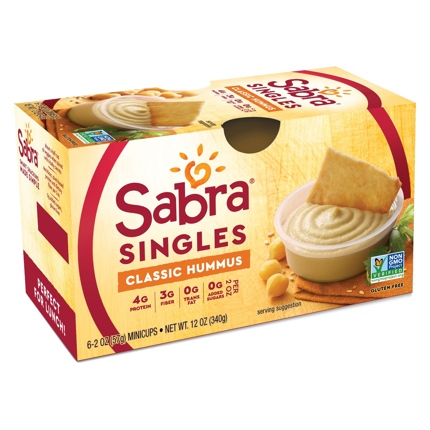 Sabra Classic Hummus Singles Dips - 6ct - image 4 of 5