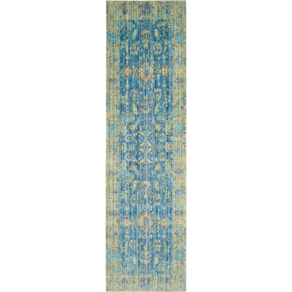 23X6 Floral Loomed Runner Blue - Safavieh Coupons