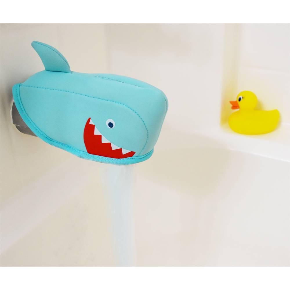 Image of Shark Bath Spout Cover Blue - Pillowfort