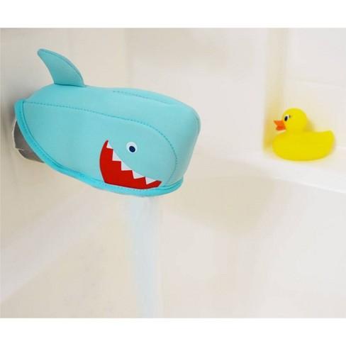 Shark Bath Spout Cover Blue - Pillowfort™ - image 1 of 3