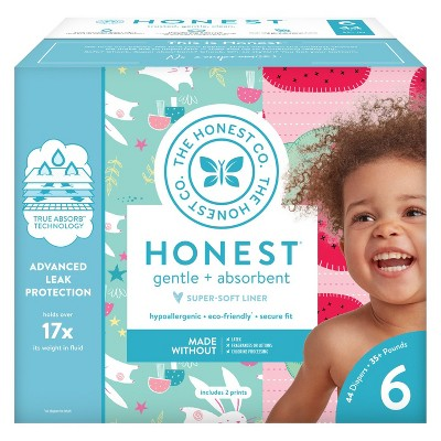 Honest Company Disposable Diapers Club Pack Strawberries & Bunnies - Size 6 (44ct)