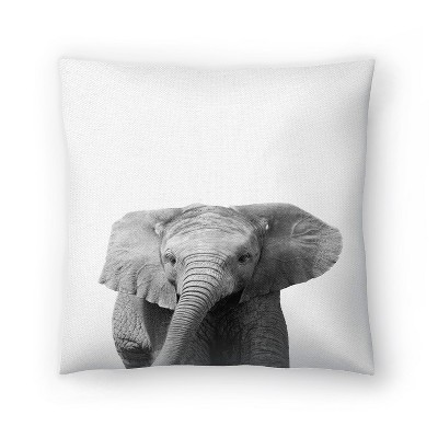 Americanflat Elephant by Nuada Throw Pillow
