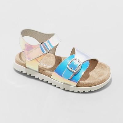 d5d91770cdbd Toddler Girls  Raynel Slide Sandals – Cat   Jack™ Silver 9 – Target ...
