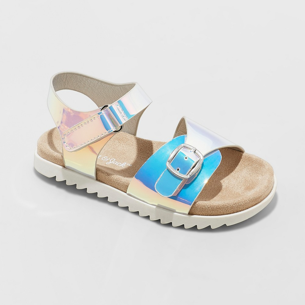 Toddler Girls' Raynel Slide Sandals - Cat & Jack Silver 10