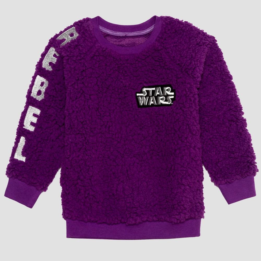 Toddler Girls' Star Wars Sweatshirt - Purple 5T