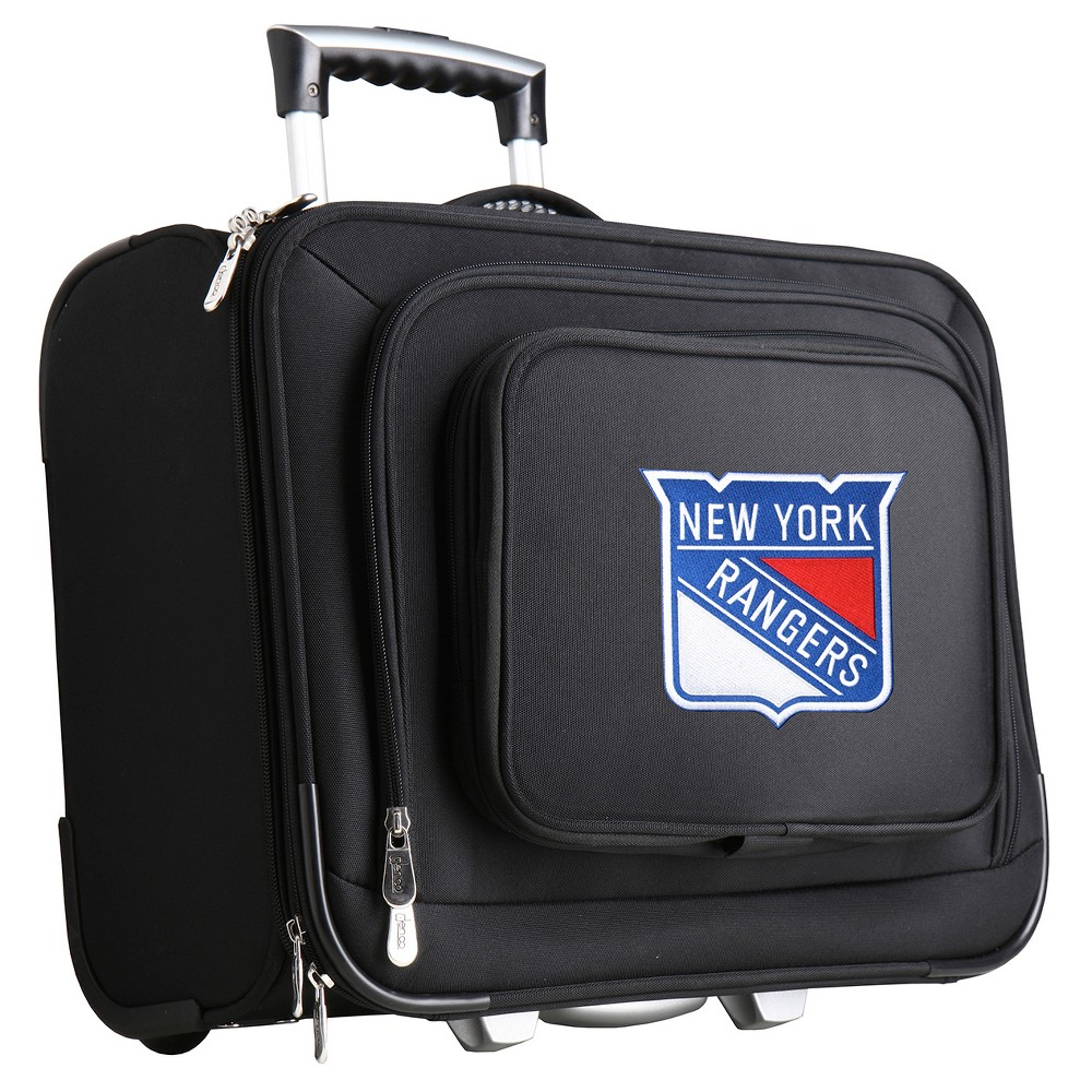 NHL New York Rangers Mojo Wheeled Laptop Overnight Suitcase