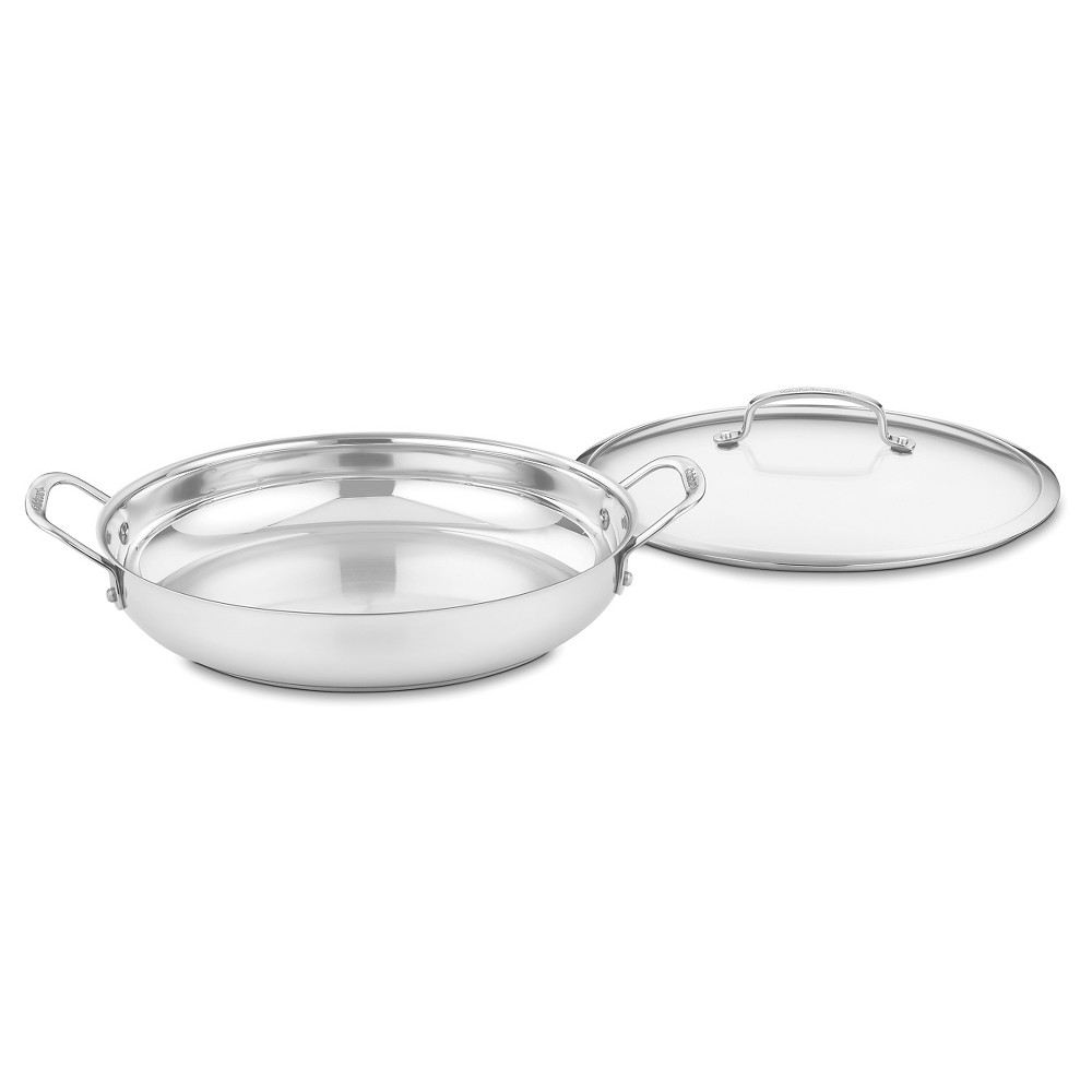 Image of Cuisinart Contour Stainless Steel 12 inch Everyday Pan - 425-30D