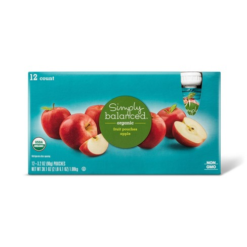 Apple Fruit Pouches - 38.4oz - Simply Balanced™ - image 1 of 1